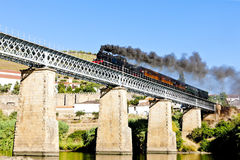 Steam train in Portugal Royalty Free Stock Image