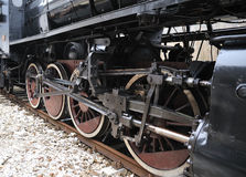 Steam train on railroad treno a vapore Royalty Free Stock Photo