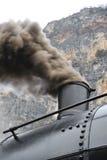 Steam train on railroad treno a vapore Stock Photography