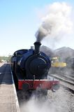 Steam train in railway station, Brownhills. Stock Photography