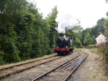 Steam Train. Retro steam train at the Bodmin and Wenford Railway Stock Photography