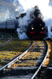 Steam train in Siberia,Russia Royalty Free Stock Image