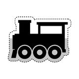Steam train silhouette isolated icon Royalty Free Stock Photos