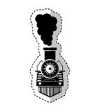Steam train silhouette isolated icon Stock Image