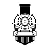 Steam train silhouette isolated icon Stock Images
