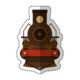 Steam train silhouette isolated icon Stock Photography