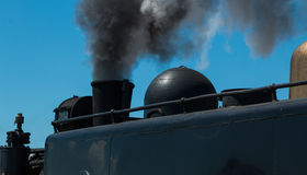 Steam Train Smoking Royalty Free Stock Images