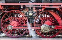 Steam train in the snow Stock Photography