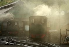 Steam Train Station Royalty Free Stock Photo