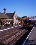 Steam train in station, Bridgnorth. Stock Photos