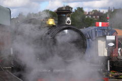 Steam train at station 4 Royalty Free Stock Photo