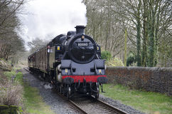 Steam Train at summerseat Lancashire Royalty Free Stock Photos