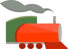 Steam Train Vector Clip Art Design royalty free illustration