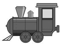 Steam train. Vector illustration of steam train, vintage transportation Stock Images