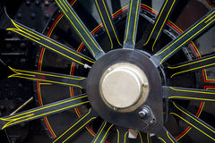 Steam train wheel close up Royalty Free Stock Photography