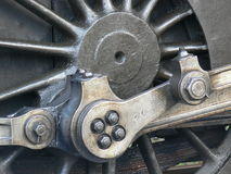 Steam train wheel - closeup Royalty Free Stock Photos