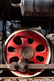 Steam train wheel Stock Image