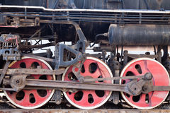 Steam train wheel Stock Photo
