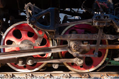 Steam train wheel Stock Images