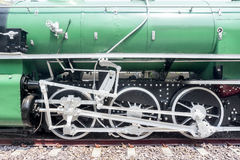 Steam train wheel Royalty Free Stock Photos