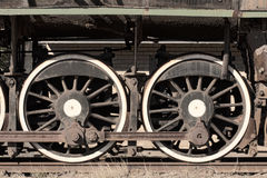 Steam train wheels Stock Images