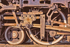 Steam Train Wheels Stock Photography