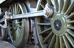 Steam train wheels Royalty Free Stock Photos