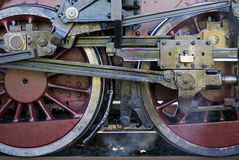 Steam train wheels detail Stock Images