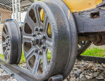 Steam train, wheels. Royalty Free Stock Photography