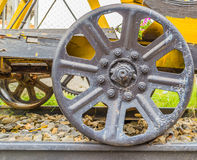 Steam train, wheels. Stock Photos