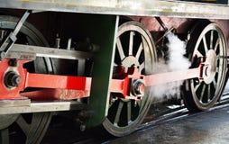 Steam train wheels Stock Photos