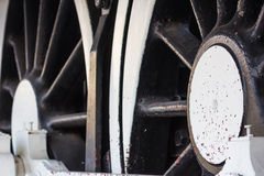 Steam train, wheels. Stock Photography