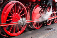 Steam train wheels Royalty Free Stock Photography