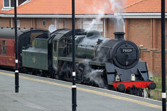 Steam train in Whitby station, North Yorkshire. Stock Photography