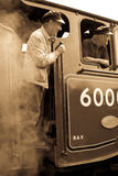 Steam train workers Stock Image