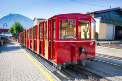 Steam trainn railway carriage going to Schafberg Peak Royalty Free Stock Images