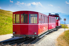 Steam trainn railway carriage going to Schafberg Peak Royalty Free Stock Photos