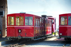 Steam trainn railway carriage going to Schafberg Peak Royalty Free Stock Image