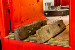 Steam Trian Brake Pads Stock Image