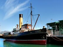 Steam Tug Lyttleton.FZ200 stock photography