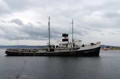 Steam tug `Saint Christopher` Grounded in the Beagle Channel. Stock Photo