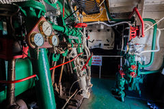 Steam Tug Vessel Engine Room Royalty Free Stock Photo
