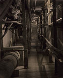 Steam tunnel. Abandoned passage under industrial complex Royalty Free Stock Photography