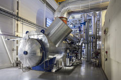 Steam turbine condenser Royalty Free Stock Photography