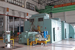 Steam turbine generator unit Stock Photos