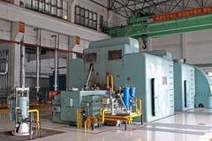 Steam turbine generator unit Stock Photos