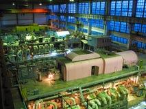 Steam turbine, machinery, night scene Royalty Free Stock Image