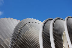 Steam turbine of nuclear power plant against a blue sky Stock Image
