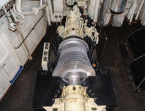 Steam turbine of the nuclear-powered icebreaker Royalty Free Stock Image