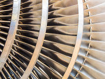Steam turbine rotor blades Royalty Free Stock Photos